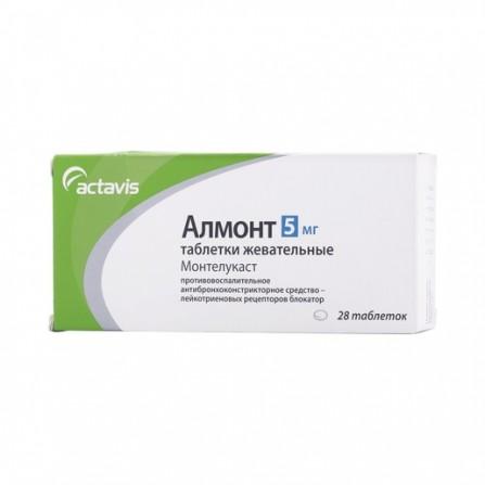 Buy Almont chewable tablets (montelast) 5 mg N28