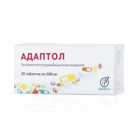 Buy Adaptol tablets 500 mg 20 pcs