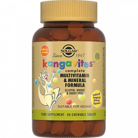 Buy SOLGAR Kangavites with multivitamins and minerals with a taste of tropical fruits 60