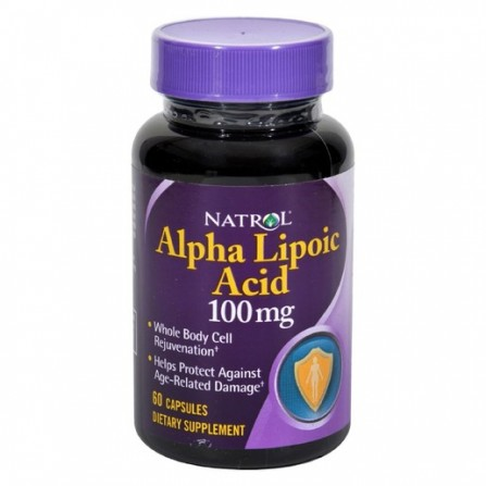 Buy Natrol alpha lipoic acid 100mg capsules N60