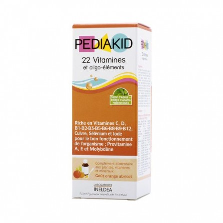 Buy Pediakid syrup 22 vitamins for body growth 125ml