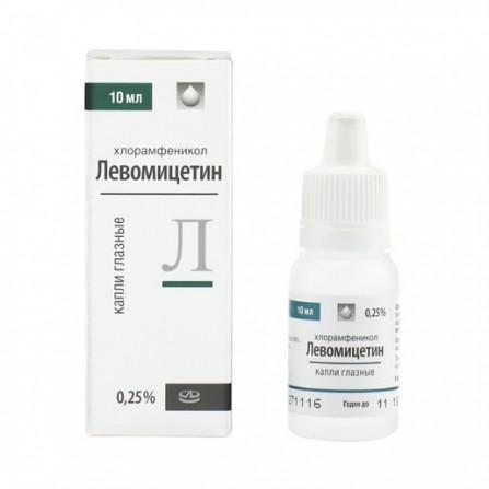 Buy Levomycetin-lekko eye drops 0.25% 10ml