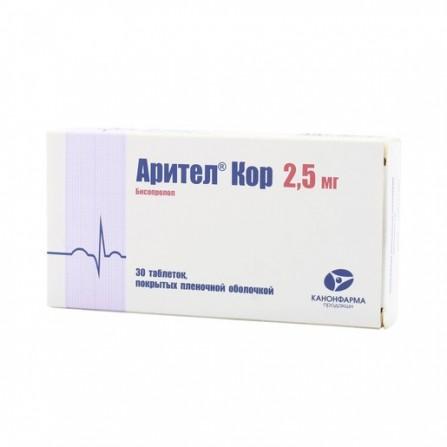 Buy Aritel core tablets coated 2,5mg N30