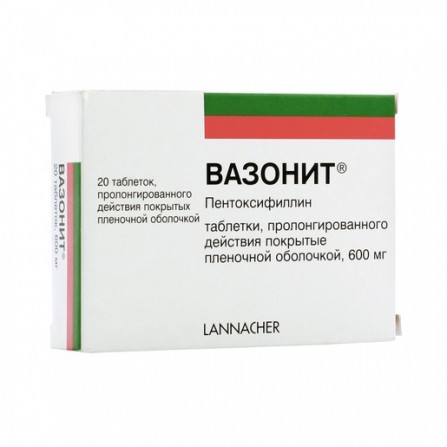 Buy Vazonit tablets film-coated retard 600mg N20