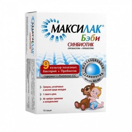 Buy Maksilak Baby synbiotic powder for oral administration sachet 1.5 g 10 pcs